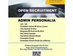 Lowongan Kerja Admin Personalia